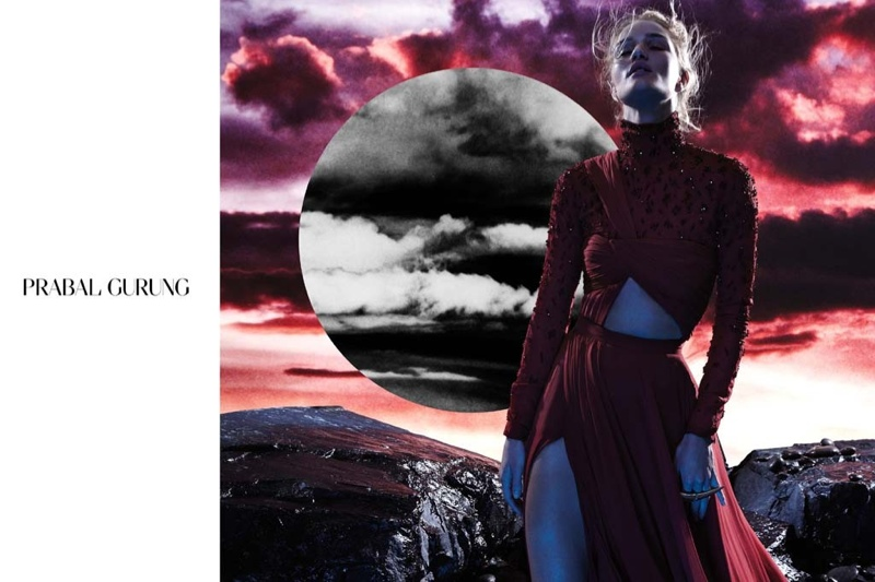 prabal gurung 2014 fall winter campaign2 Rosie Huntington Whiteley Stars in Prabal Gurungs Beautifully Eerie Fall Ads
