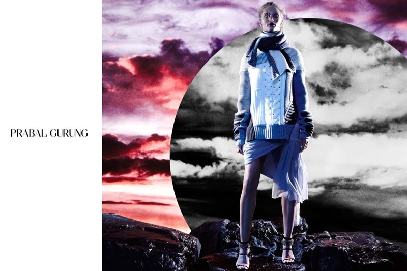 prabal gurung 2014 fall winter campaign3 Rosie Huntington Whiteley Stars in Prabal Gurungs Beautifully Eerie Fall Ads
