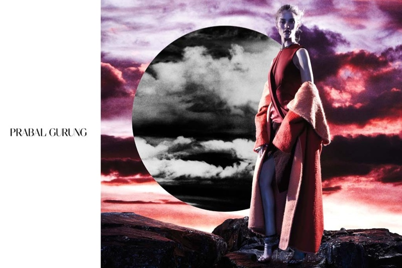 prabal gurung 2014 fall winter campaign4 Rosie Huntington Whiteley Stars in Prabal Gurungs Beautifully Eerie Fall Ads