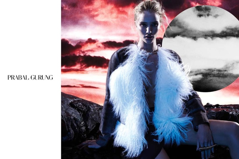 prabal gurung 2014 fall winter campaign5 Rosie Huntington Whiteley Stars in Prabal Gurungs Beautifully Eerie Fall Ads