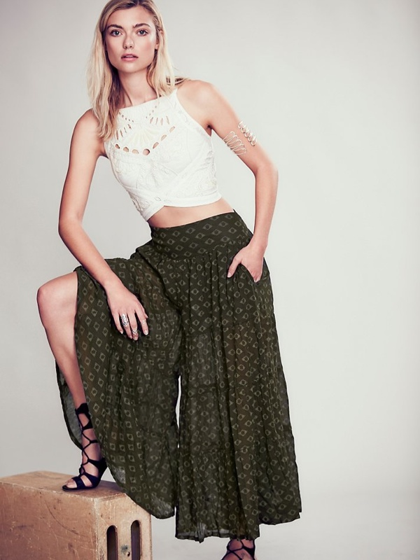 Printed Culottes available at Free People for $69.95