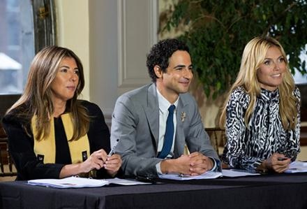 Judges Nina Garcia, Zac Posen and Heidi Klum. Judging your designs and your life choices. Photo: Lifetime