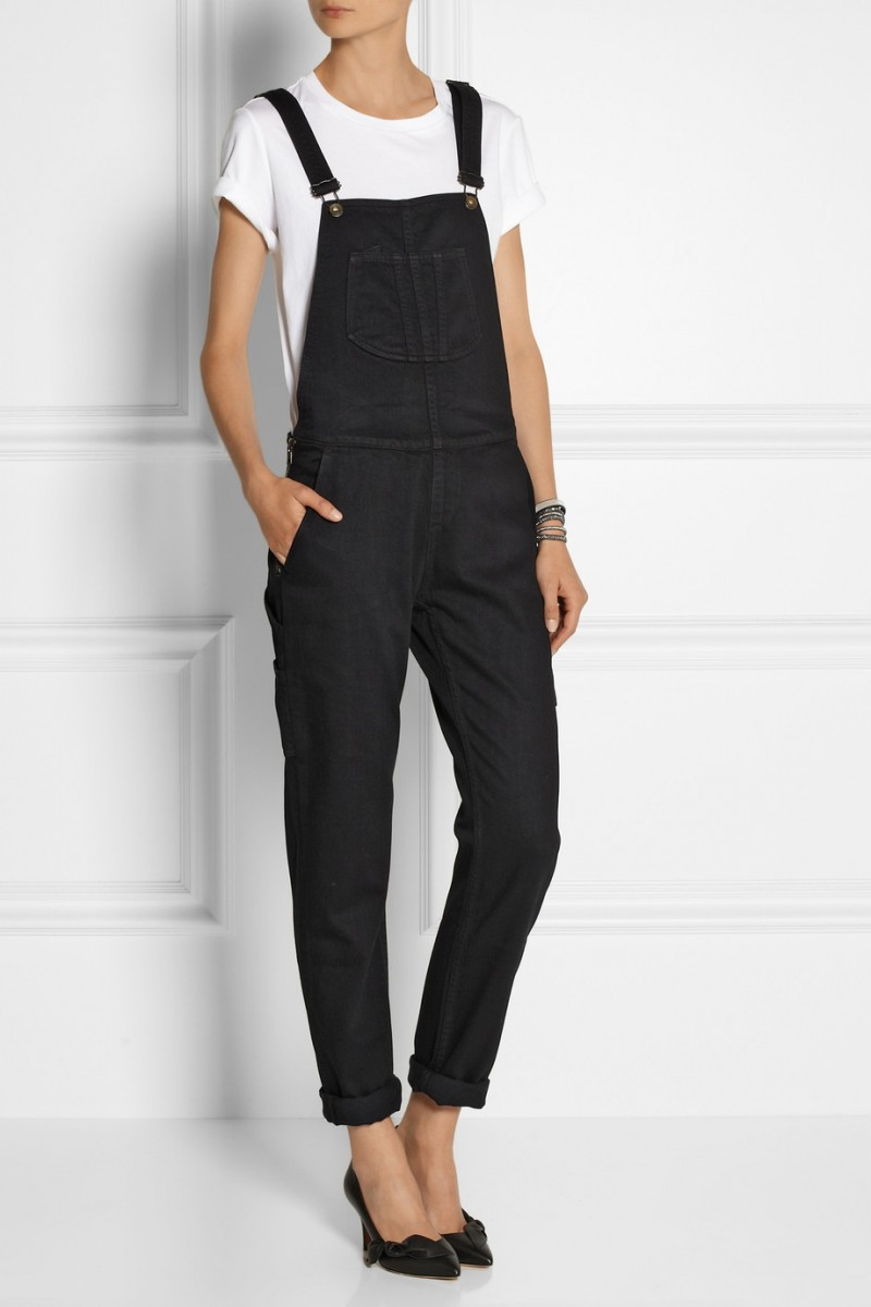 rag & bone Stretch-denim overalls available at Net-a-Porter for $265.00