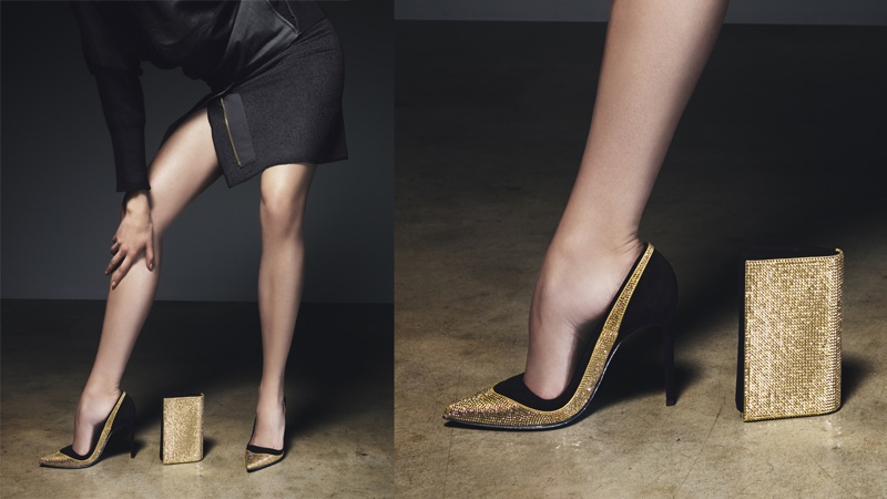 rene caovilla 2014 fall winter campaign5 Masha V Gets Leggy for Rene Caovilla Fall 2014 Campaign