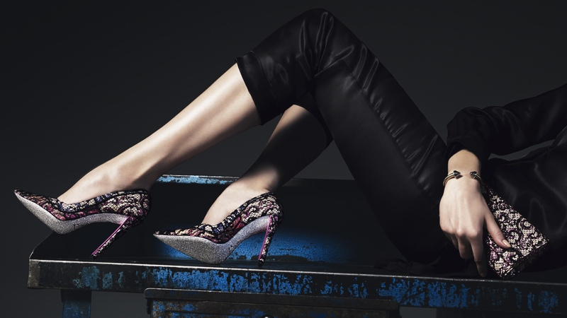 rene caovilla 2014 fall winter campaign8 Masha V Gets Leggy for Rene Caovilla Fall 2014 Campaign