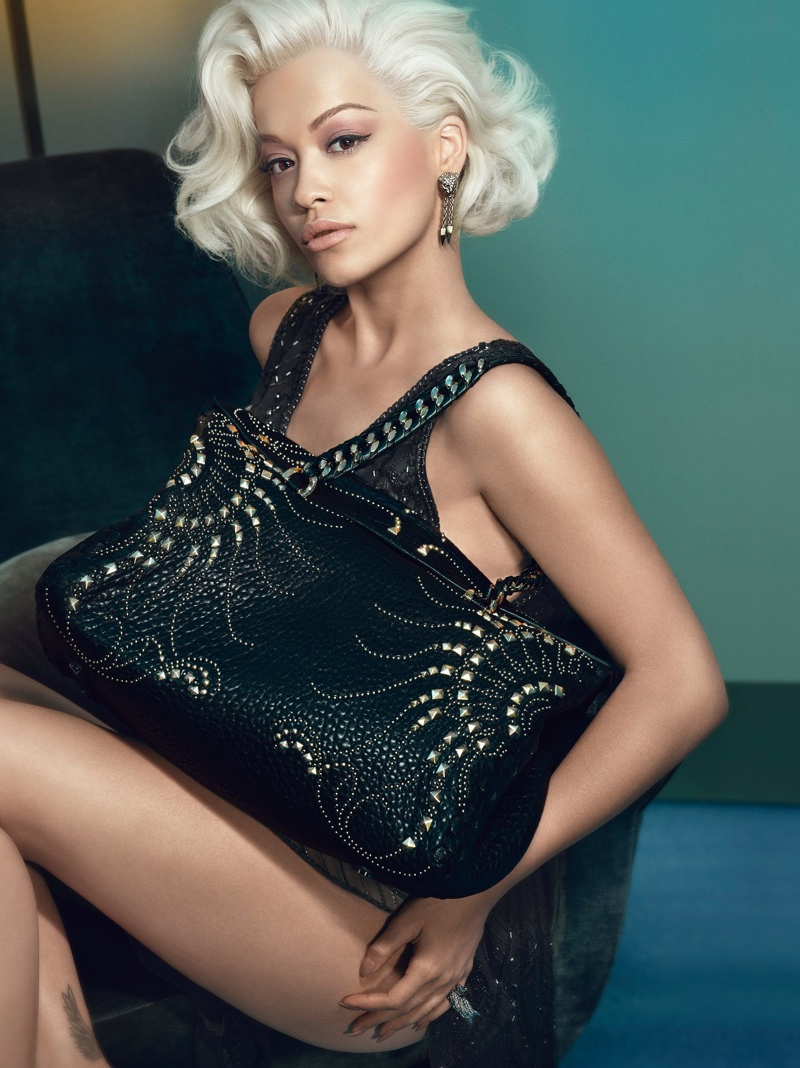 Rita Ora is Just Like Marilyn in Roberto Cavalli's Fall 2014 Ads