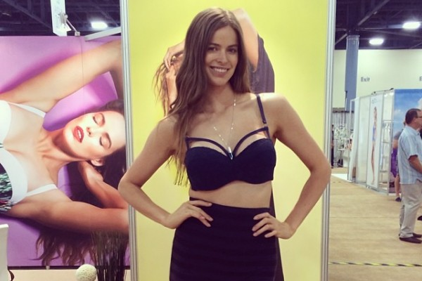 Robyn Lawley at recent event for her swimwear line. Photo: model's Instagram