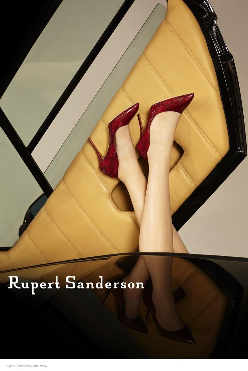 ruper sanderson 2014 fall campaign01 Rupert Sandersons Fall Ads Were Photographed in A Lamborghini