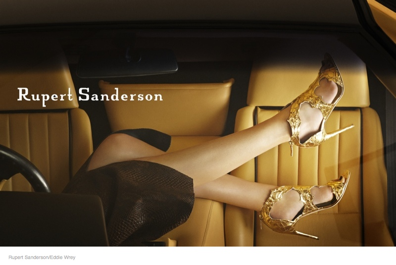 Rupert Sanderson's Fall Ads Were Photographed in A Lamborghini