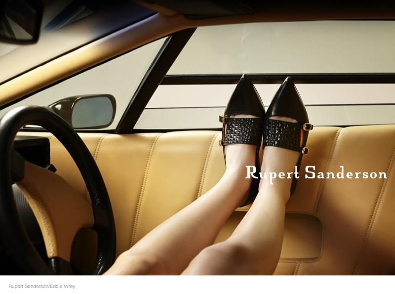 ruper sanderson 2014 fall campaign05 Rupert Sandersons Fall Ads Were Photographed in A Lamborghini