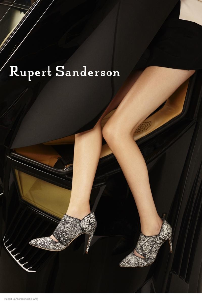 ruper sanderson 2014 fall campaign06 Rupert Sandersons Fall Ads Were Photographed in A Lamborghini