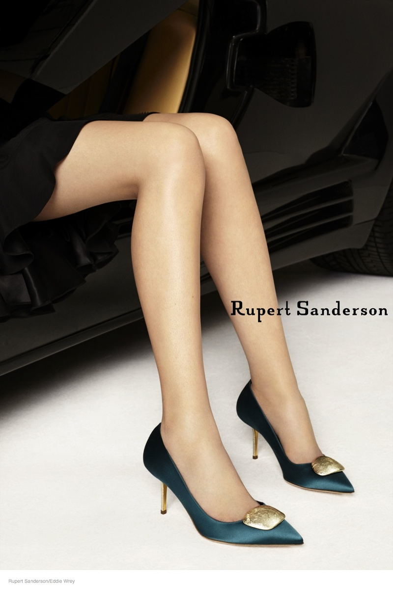 ruper sanderson 2014 fall campaign07 Rupert Sandersons Fall Ads Were Photographed in A Lamborghini