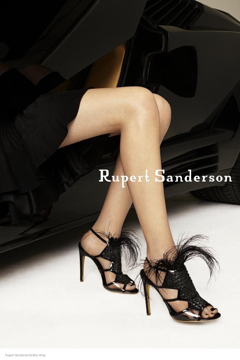 ruper sanderson 2014 fall campaign08 Rupert Sandersons Fall Ads Were Photographed in A Lamborghini
