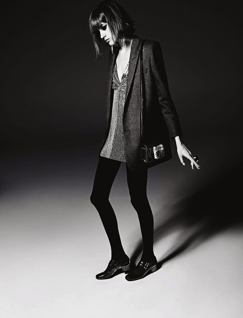 saint laurent 2014 fall winter campaign3 First Look | Valery Kaufman by Hedi Slimane for Saint Laurent Fall 2014 Campaign