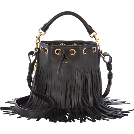 Saint Laurent Fringe Bucket Bag Small available at Barneys for $2150.00