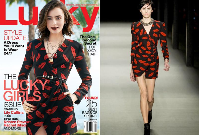 Saint Laurent's Lip Print Dress Takes Over the Summer Season