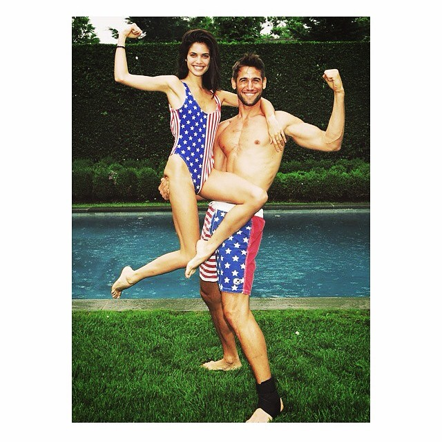 sara sampaio 4th a Celebrating the 4th: Miranda Kerr, Alessandra Ambrosio + More Independence Day Instagrams
