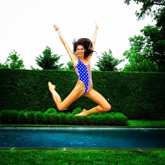 sara sampaio 4th Celebrating the 4th: Miranda Kerr, Alessandra Ambrosio + More Independence Day Instagrams