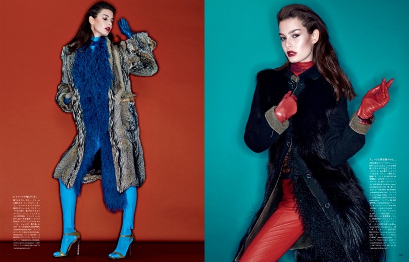 sharif hamza coats story2 Coats of the New Order: Ophélie Guillermand by Sharif Hamza for Vogue Japan