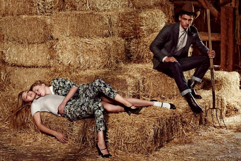 Sisley's Fall 2014 Ads Feature a Love Triangle with Ireland Baldwin + Gigi Hadid
