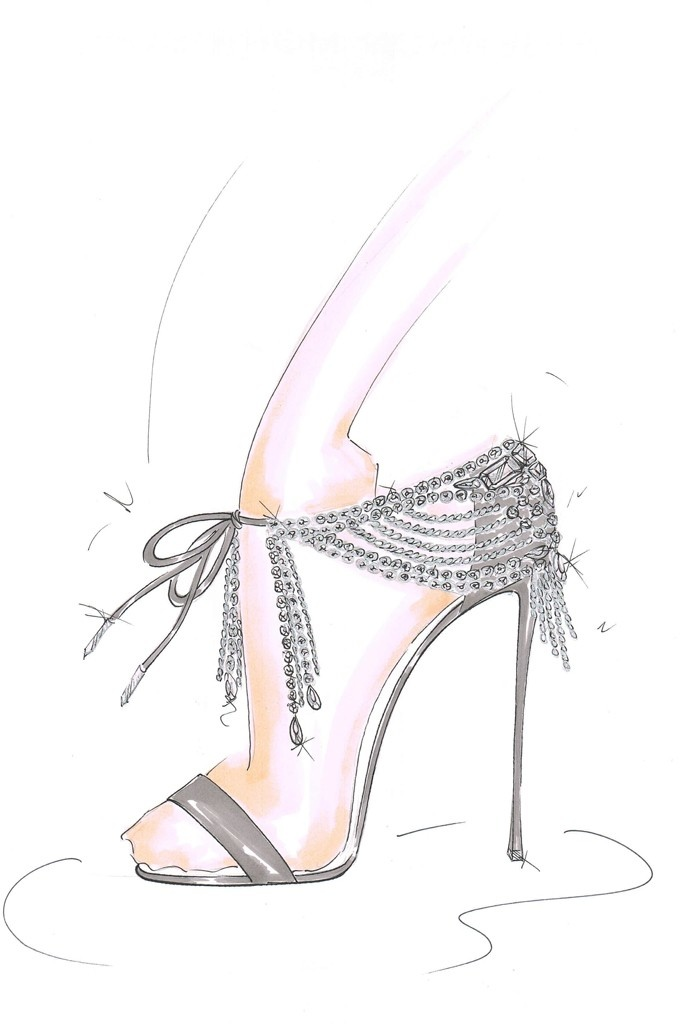Sketch from collaboration. Image: WWD