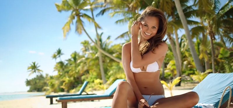 Chrissy Teigen in Air New Zealand Safety Video