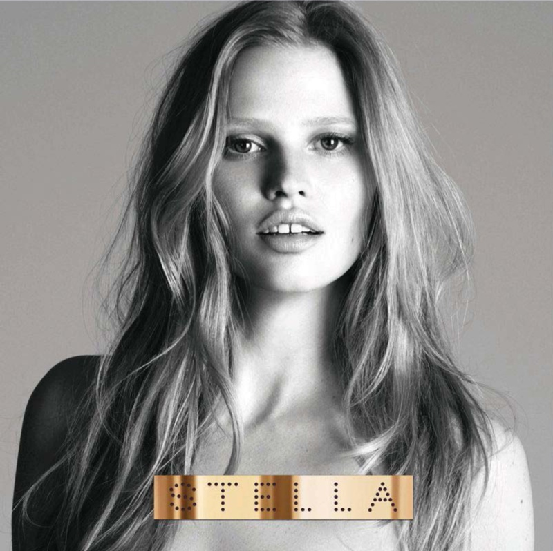 stella fragrance stella mccartney campaign2 Lara Stone Gets Mouthy for Stella by Stella McCartney Fragrance Campaign