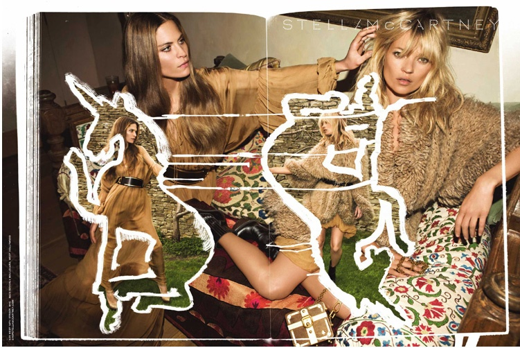 Kate Moss and Frankie Rayder for Stella McCartney Fall 2008 Campaign by Inez & Vinoodh
