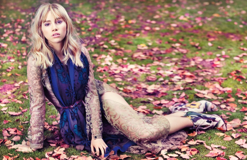 Suki Waterhouse is Ready for Fall in Vogue China Shoot by Stockton Johnson