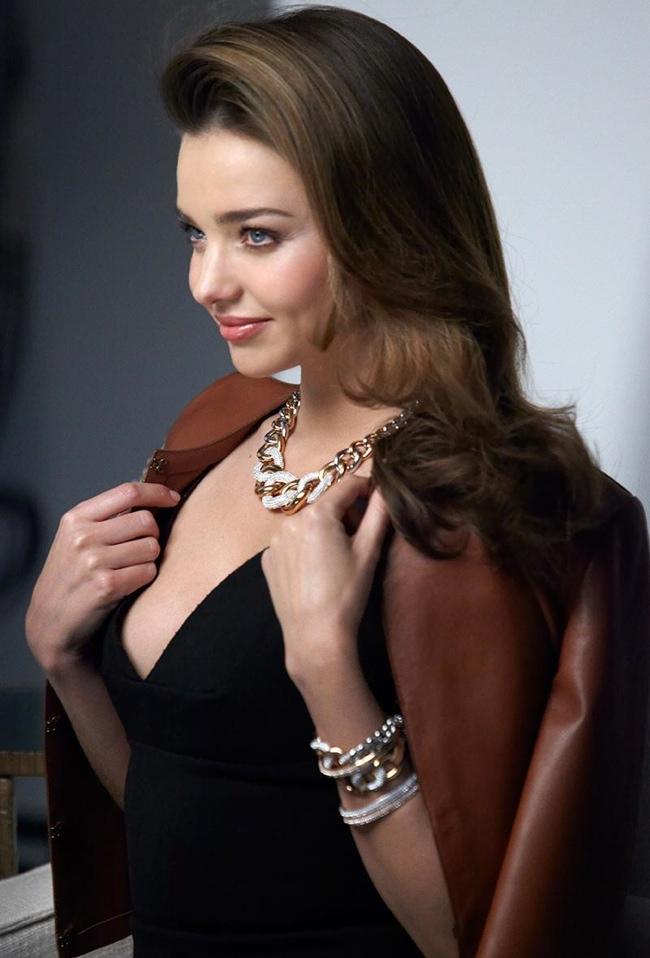 swarovski bts 2014 1 Miranda Kerr Sparkles in Swarovskis Fall 2014 Ad