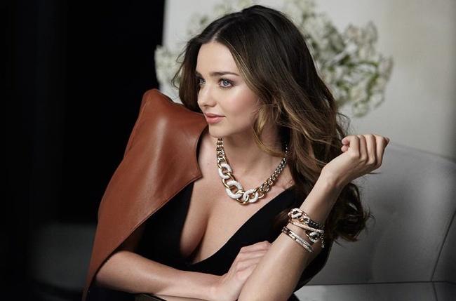 swarovski bts 2014 2 Miranda Kerr Sparkles in Swarovskis Fall 2014 Ad