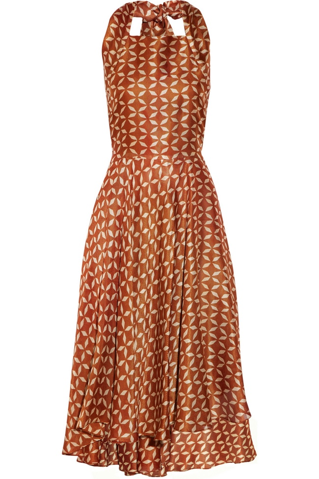 the row loam printed dress Net a Porter Final Clearance: Last Chance to Get Designer Looks on Sale