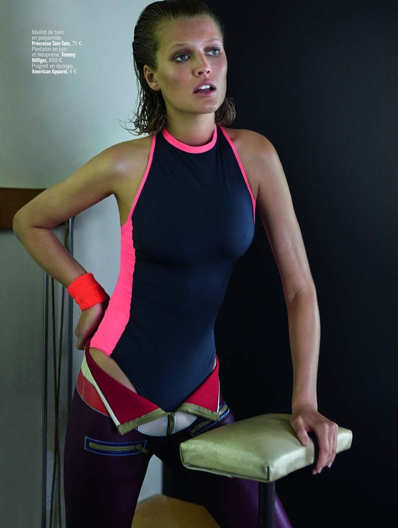 toni garrn photo shoot 2014 4 Toni Garrn Shapes Up for Sporty L'Express Styles Spread by Alex Cayley