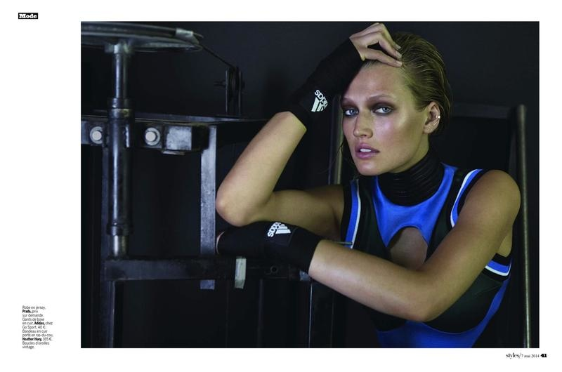 toni garrn photo shoot 2014 5 Toni Garrn Shapes Up for Sporty L'Express Styles Spread by Alex Cayley