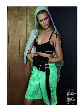 Toni Garrn Shapes Up for Sporty L'Express Styles Spread by Alex Cayley