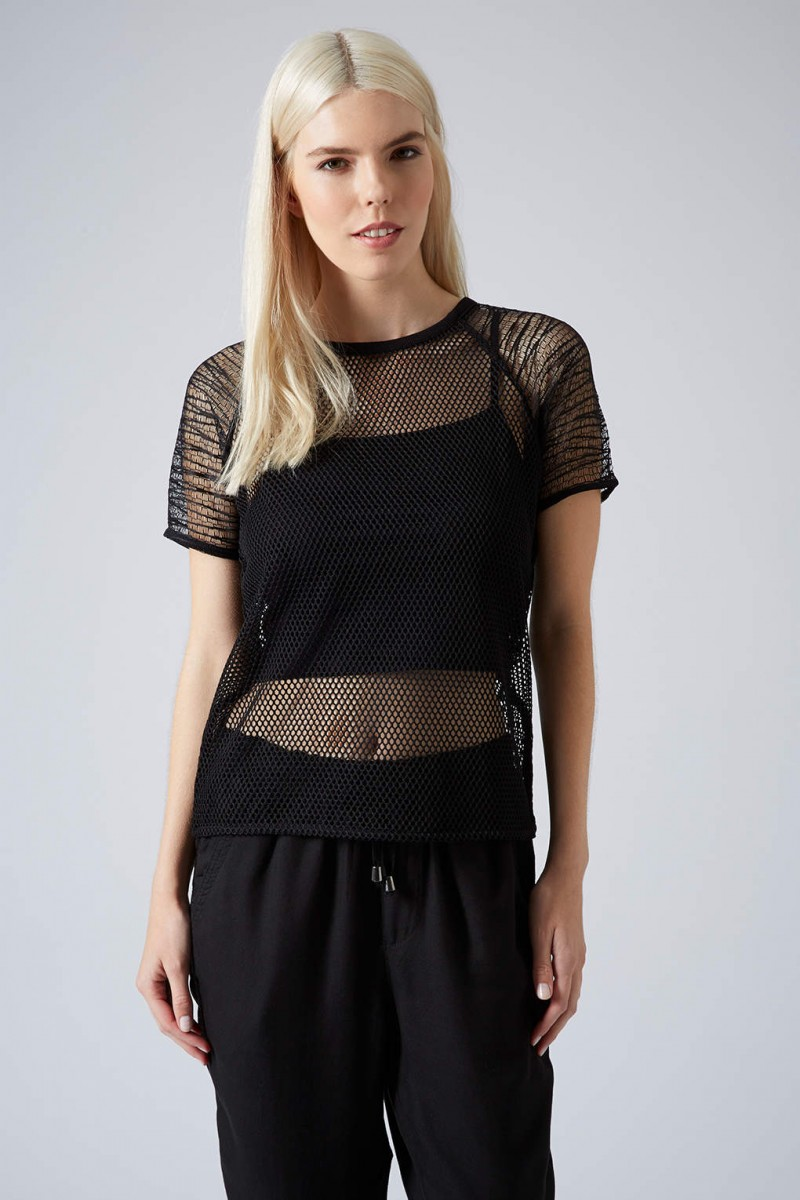 topshop mesh net tee 800x1200 Daily Find: Wear Black in the Summer With Topshop's Mesh Net Tee