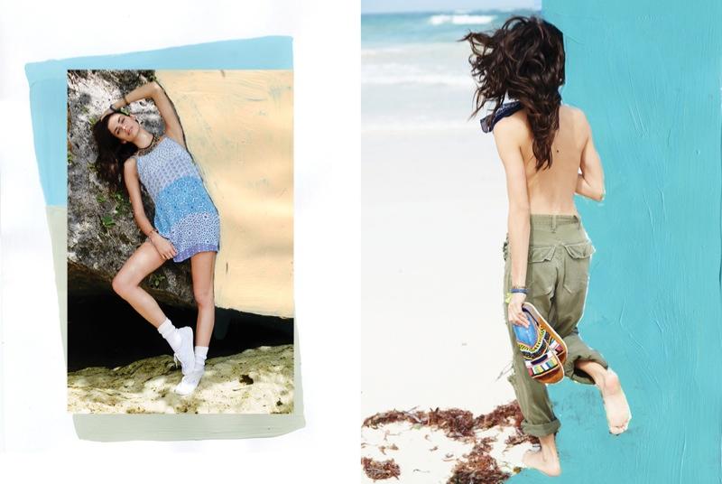 urban outfitters sara sampaio5 Sara Sampaio & Stella Maxwell Star in Urban Outfitters Near + Far Shoot
