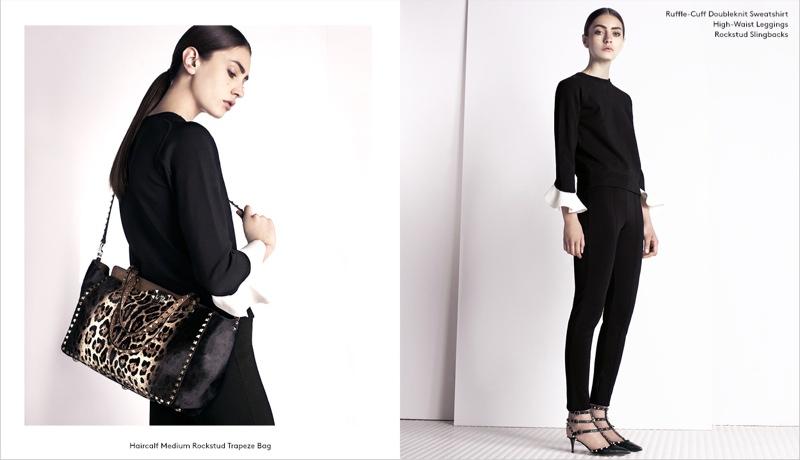 valentino barneys pre fall 3 Marine Deleeuw Models Valentino Pre Fall for Barneys