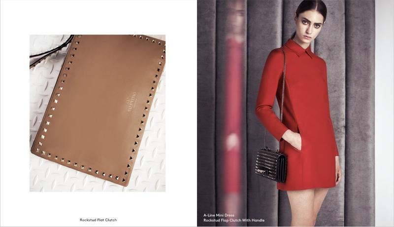 valentino barneys pre fall 7 Marine Deleeuw Models Valentino Pre Fall for Barneys