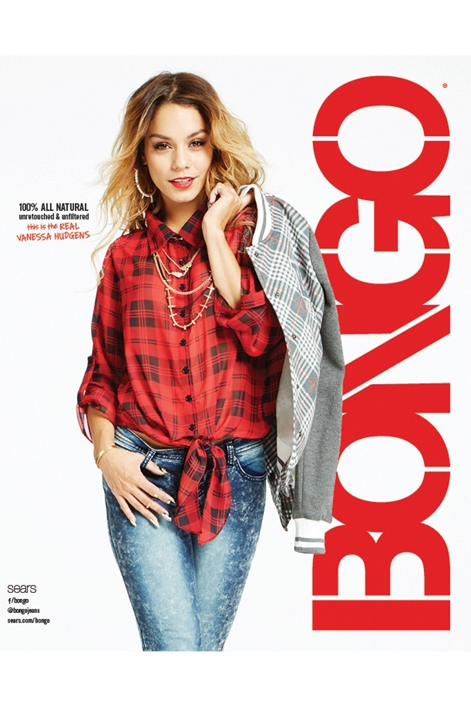 vanessa hudgens unretouched bongo ads2 Vanessa Hudgens is 100% Unretouched in Bongos Fall 2014 Ads