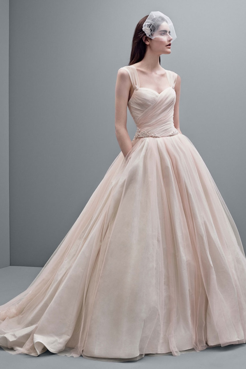 White by vera wang 2014 fall wedding dresses for White vera wang wedding dresses