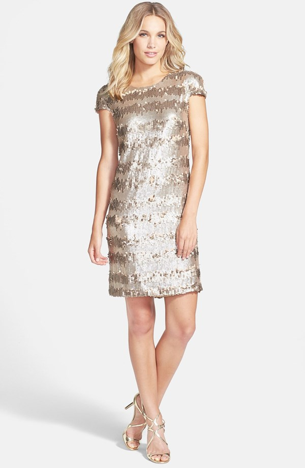 Vera Gold Party Dress