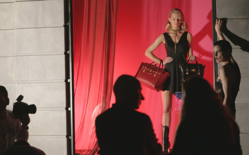 versace bts2 Anna Ewers + Stella Tennant in Additional Versace Fall 2014 Ads