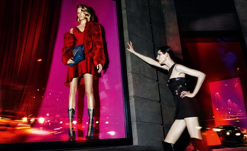 versace fall 2014 advertising photos1 Anna Ewers + Stella Tennant in Additional Versace Fall 2014 Ads
