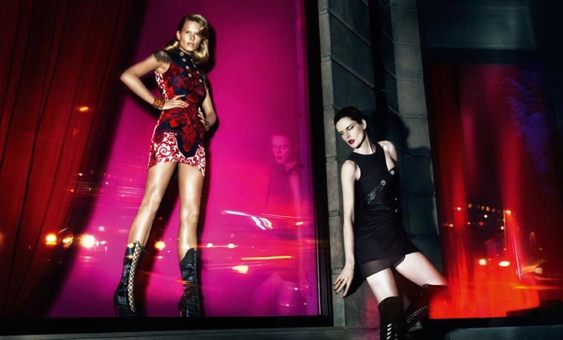 versace fall 2014 advertising photos2 Anna Ewers + Stella Tennant in Additional Versace Fall 2014 Ads