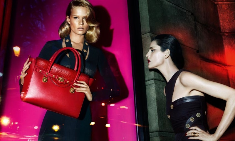 versace fall 2014 advertising photos3 Anna Ewers + Stella Tennant in Additional Versace Fall 2014 Ads