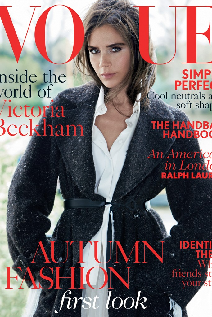 victoria beckham vogue uk 2014 1 Victoria Beckham Covers Vogue UK August 2014 in Fall Style