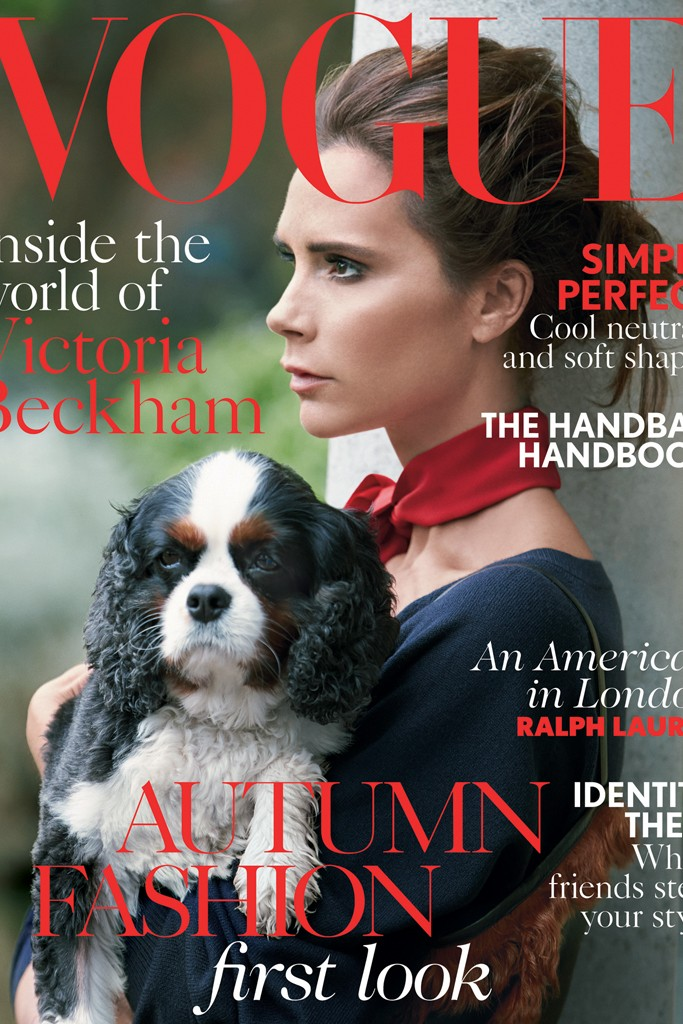 victoria beckham vogue uk 2014 2 Victoria Beckham Covers Vogue UK August 2014 in Fall Style