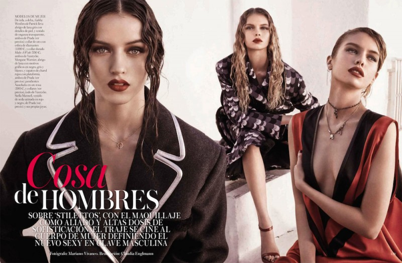 vogue es002 800x525 Stella, Gabby + Morgane Model Masculine Fashions for Vogue Spain by Mariano Vivanco