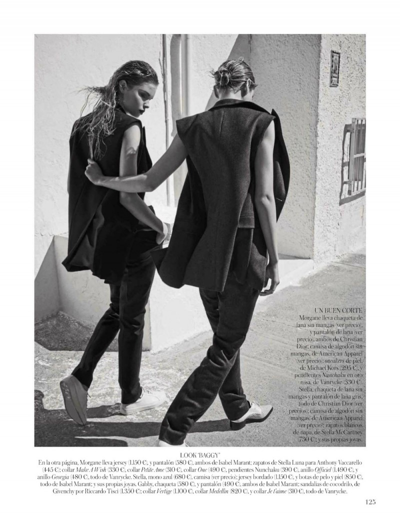vogue es006 800x1040 Stella, Gabby + Morgane Model Masculine Fashions for Vogue Spain by Mariano Vivanco